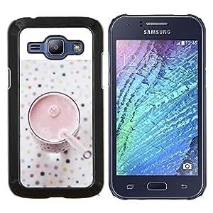 LECELL--Funda protectora / Cubierta / Piel For Samsung Galaxy J1 J100 -- Saludable Smoothie Fresa --