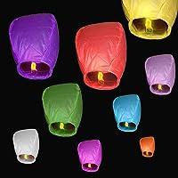 10 pcs Cielo Lanterns colores mixtos farolillos chinos