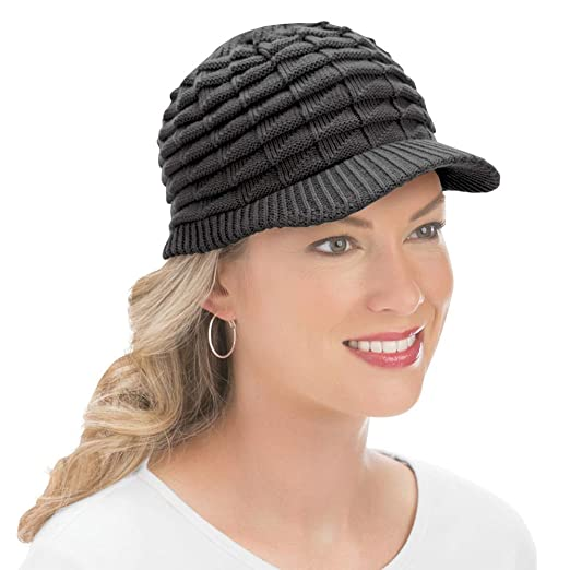 Collections Womens Winter Hat with Brim b24b7dc7b9a