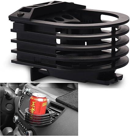 Langdy Aluminum Alloy Adjustable Car Holder Drinks Holder for Air Cooler//Litre Cans//Coffee Cups//Vacuum Flasks Outlet Cup Holder Car Outlet Drink Rack Silver