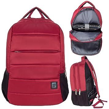 Mochila para Ordenador portátil de hasta 17,3 Pulgadas, Compatible con Acer, DELL, LG, Huawei Rojo Granate 17,3 Pulgadas: Amazon.es: Electrónica