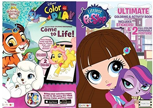 Littlest Pet Shop Ultimate Coloring and Activity Book and Palace Pets Color...