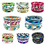 Kissed Karma Pick Your Favorite Colors Nepal Bracelets. 6 Pcs Set Made with Premium Glass Seed Beads.