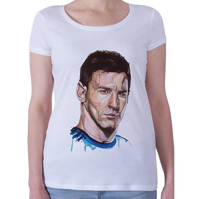 Lionel Messi In Argentina Shirt Camiseta - Mujeres - XX-Large