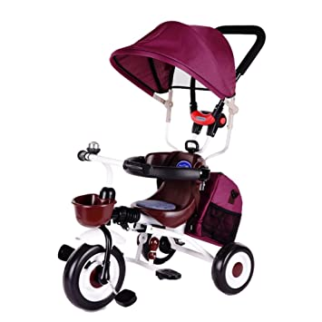 Triciclos niños Bicicleta 1-7 años Carro de Carro de bebé Niño Bicicleta Trike Niños 3 Ruedas (Color : Color Arena de Frijol) : Amazon.es: Juguetes y ...