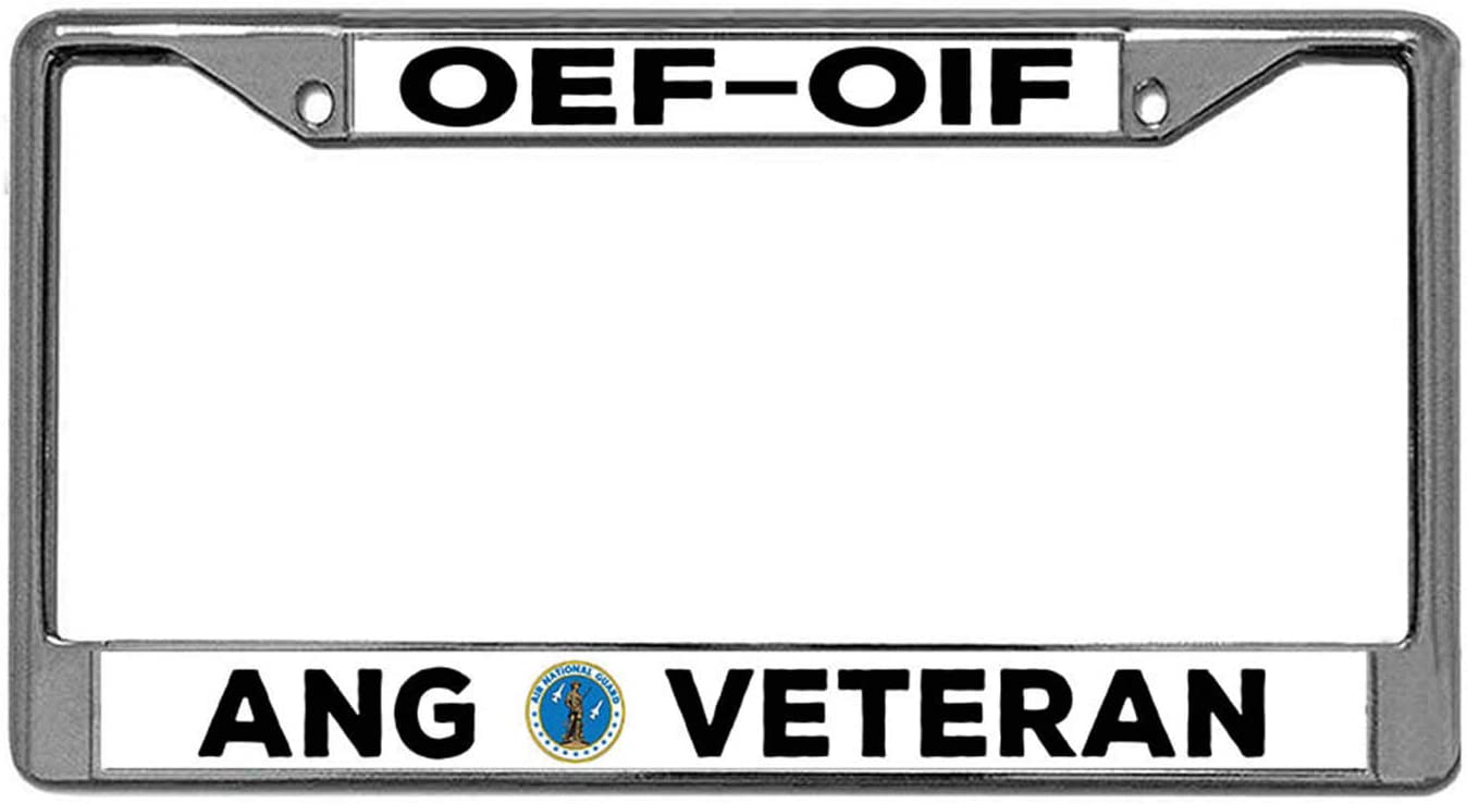 OIF Nuoyizo Operations Enduring Freedom Funny Car tag Frame OEF Iraqi Freedom Afghanistan Iraq Veteran Metal Waterproof Stainless Steel Car Licence Plate Covers