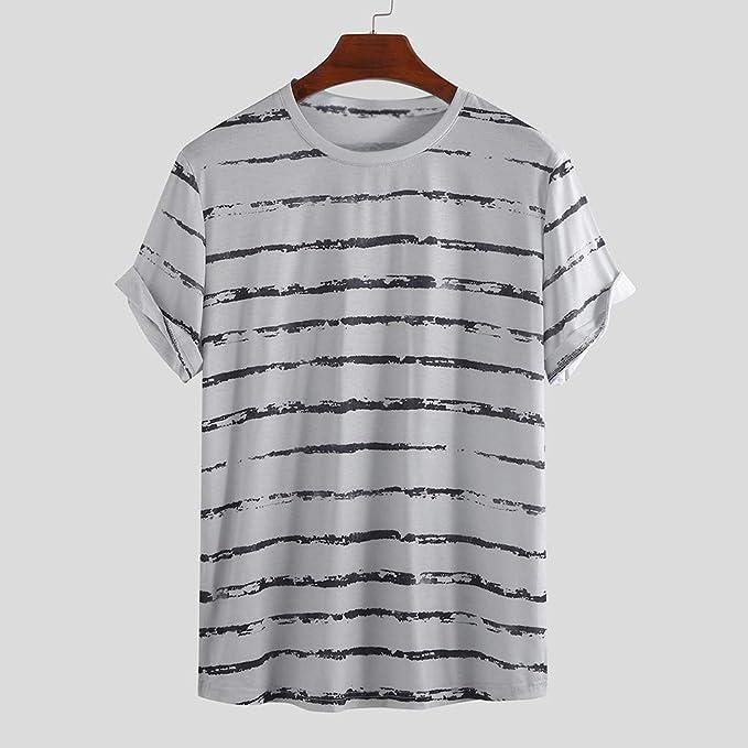 AG&T Camisetas Manga Corta Hombre Moda Camisetas Hombre Algodón ...