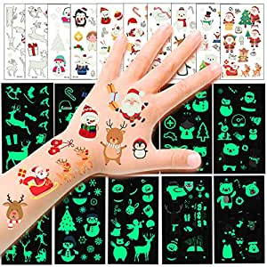HOWAF 110pcs Navidad Tatuajes temporales para niños, Falso ...