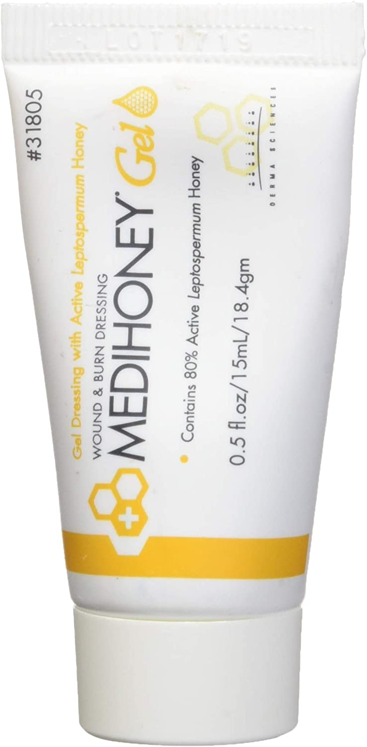 Improved Medihoney Gel Wound and & Burn Dressing from Derma Sciences, 0.5 oz,: Health & Personal Care