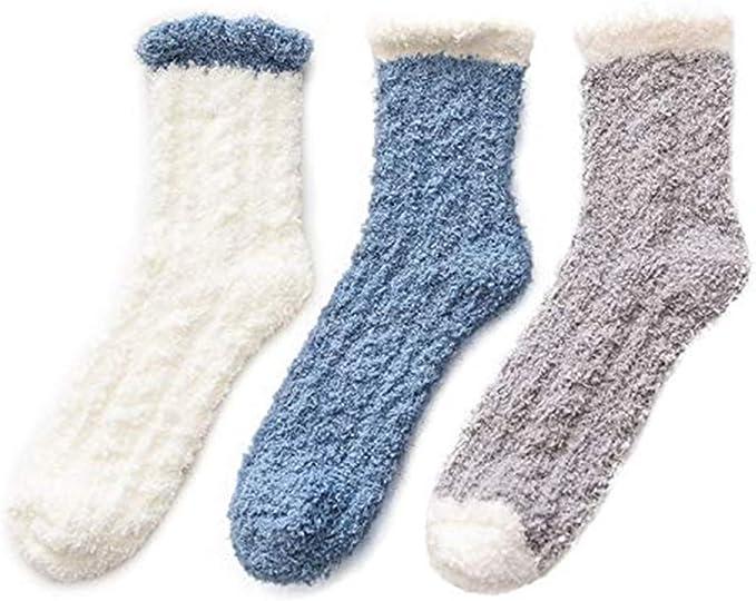 detailed look meet best sneakers Winter Womens Warm House Slipper Socks Super Soft Microfiber Fuzzy Home  Socks