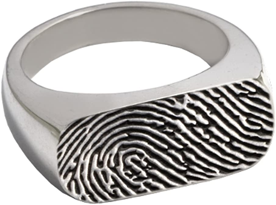 Jay Seiler Stainless Steel Sterling Silver Inlay 6mm Polished Band Size 10,