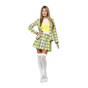 43a367804 UK 8-10 Official Clueless Cher Fancy Dress Costume Yellow Plaid Suit with  Jacket Top
