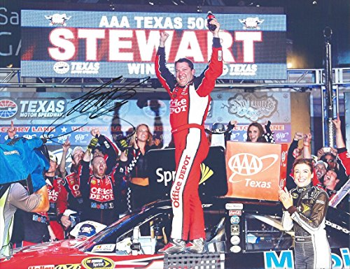 AUTOGRAPHED 2011 Tony Stewart #14 Office Depot Racing AAA TEXAS 500 WIN (Victory Lane) 9X11 Signed Picture NASCAR Glossy Photo with COA - Office Depot Racing
