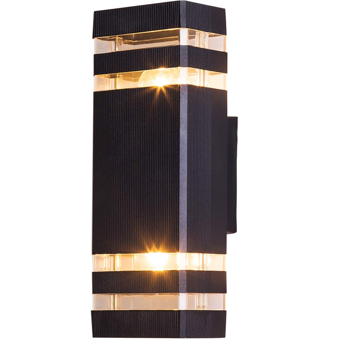 HZB Rechteckige Außenwandlampe, Wandlampe, moderner kreativer Gang, wasserdichte Außenwand-Lampe, Patio-Balkon-Wand-Lampe