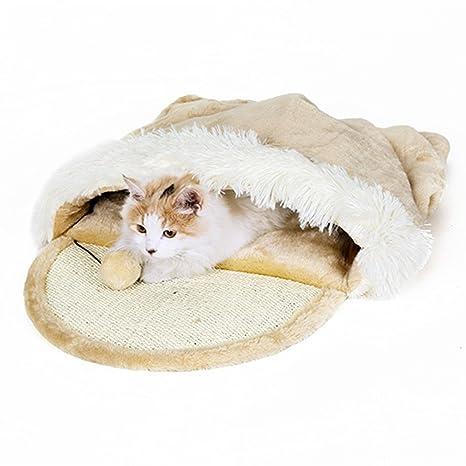 Taoking - Cama con refugio para gatos grandes, calefacción