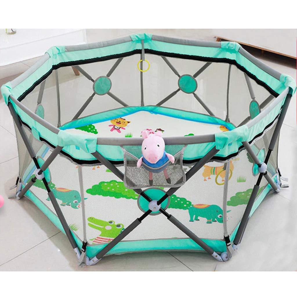 赤ちゃん屋内ゲームクロールマットフェンスベビーフェンスの子供家の幼児の折り畳み安全フェンス SHWSM B07TB2HJVJ