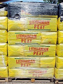 Turba (rubia) ácida de sfagno (Comisión lituana Peat) (palé de 12 bolsas de 250 lt): Amazon.es: Jardín