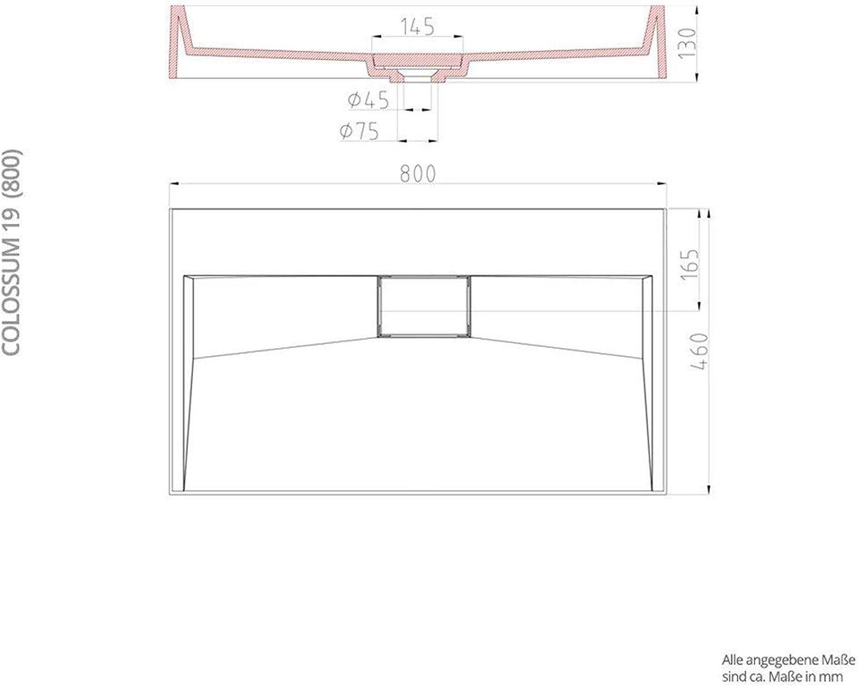 Lavabo suspendu vasque /à poser 60cm noir mat anthracite /évier Sogood Colossum19-600 rectangulaire 60x38x11cm