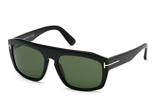 7b8c5affde5 TOM FORD FT0470 Conrad Men Sunglasses Shiny Black w Crystal Green (01N) TF  470 01N 58mm Authentic  Amazon.co.uk  Clothing