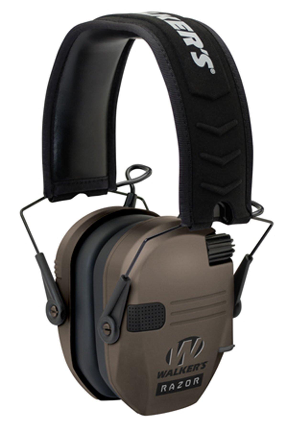 wlk Walkers Game Ear Razor Slim Shooter Folding Earmuff 23 dB Flat Dark Earth