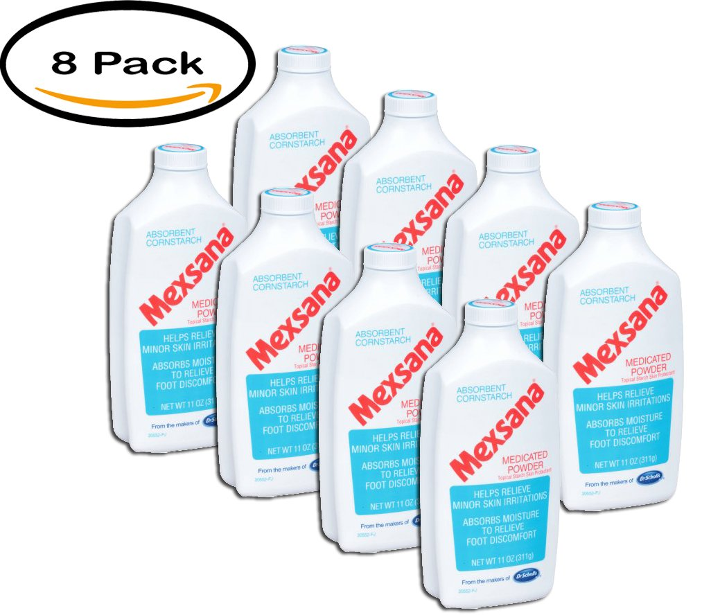 PACK OF 8 - Mexsana Absorbent Cornstarch Medicated Powder, 11 oz