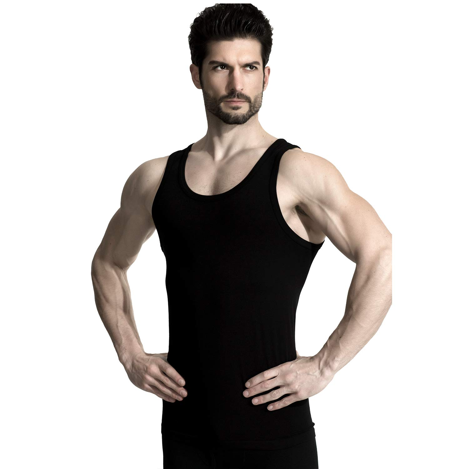 aac05dfae +MD Bamboo Rayon Undershirts for Men Crew Neck Comfy Breathable Soft Tank  Tops Moisture Wicking Undershirts at Amazon Men's Clothing store: