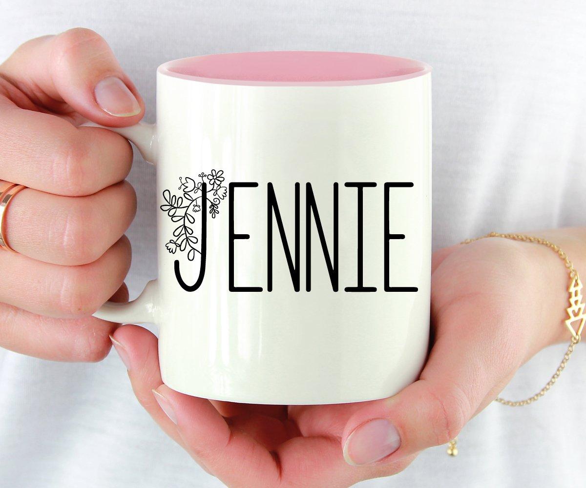 Custom Name Floral Mug