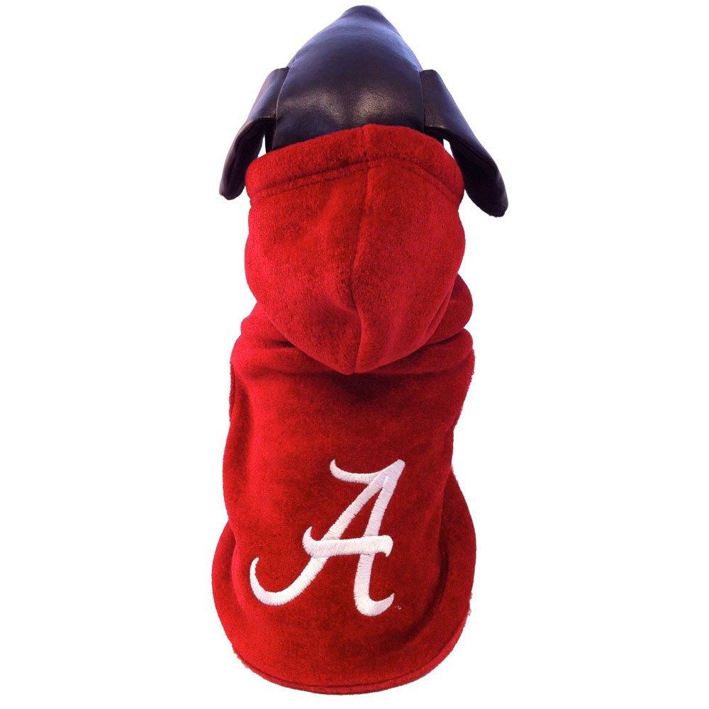 Large NCAA Alabama Crimson Tide Polar Fleece Hooded Dog Jacket