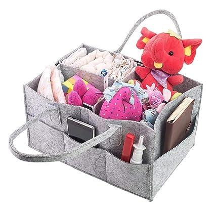 Organizador de pañales para bebé con compartimentos ...