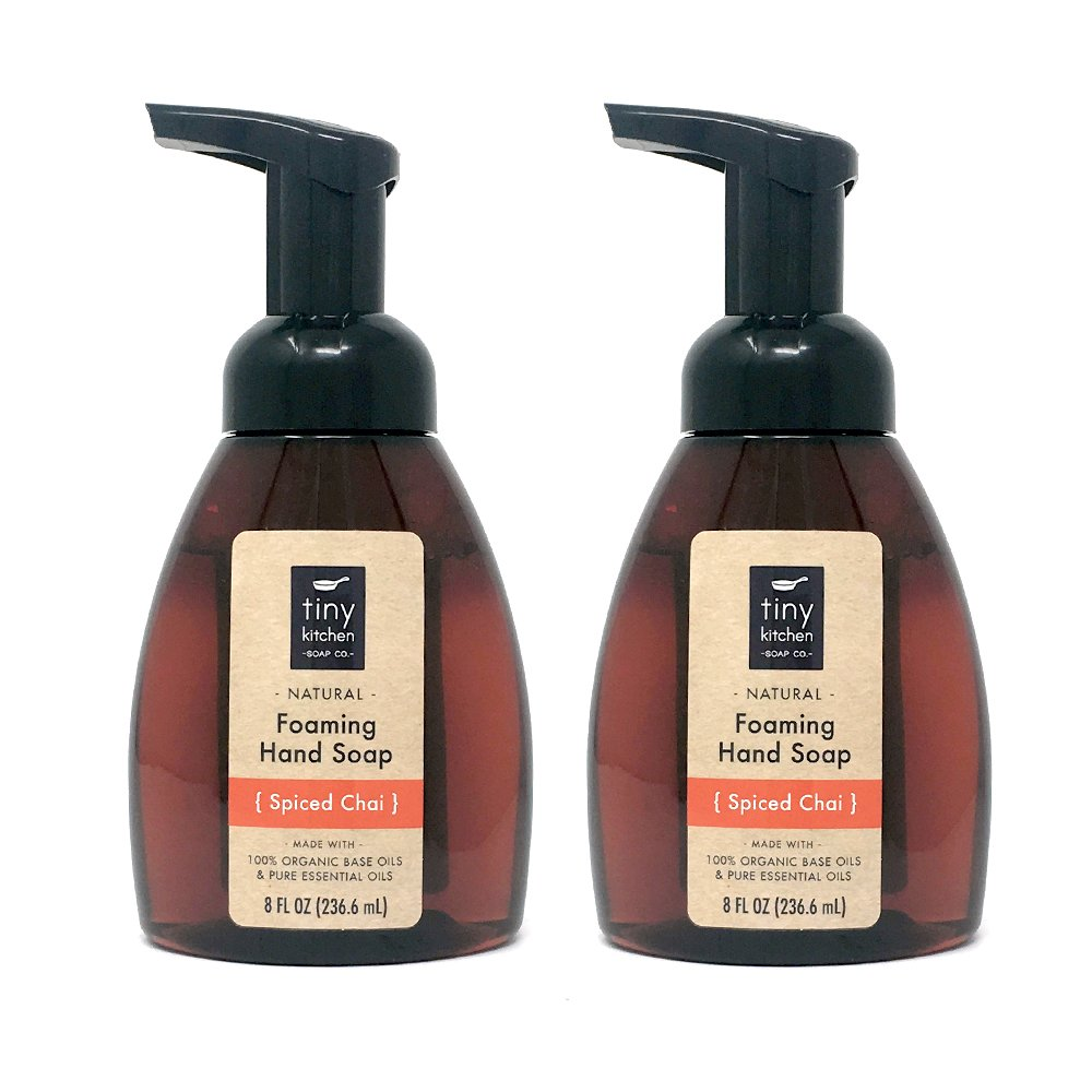 Spiced Chai Foaming Hand Soap (2 Pack) - Handmade with Organic Base Oils and Pure Essential Oils