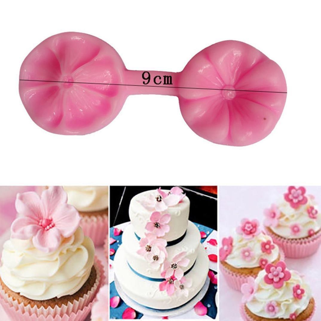 Wokee Molde de silicona para tartas, diseño de pétalos de flores, para decoración de pasteles, moldes de chocolate Free A: Amazon.es: Hogar