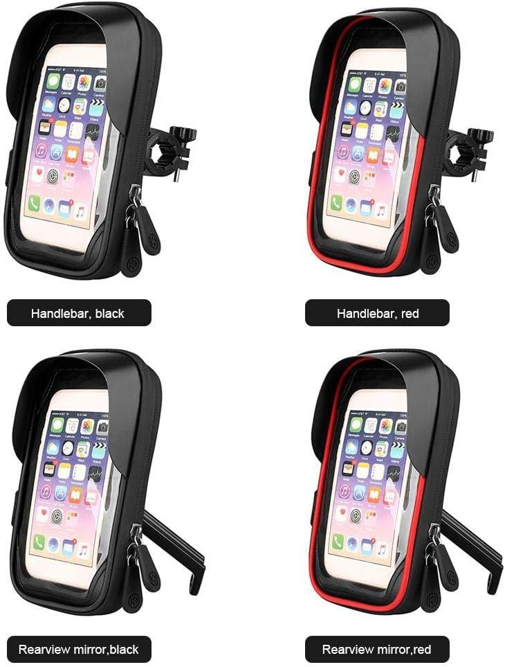 soporte para tel/éfono m/óvil para bicicleta bolsa para manillar de bicicleta Funda impermeable a prueba de polvo para tel/éfonos m/óviles de 4.5-6.4 pulgadas Bolsa para tel/éfono m/óvil para bicicleta