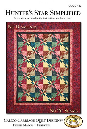 Hunter's Star Simplified Quilt Pattern, No Diamonds, No