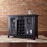 Crosley Newport Sliding Top Bar Cabinet, Black Finish Review
