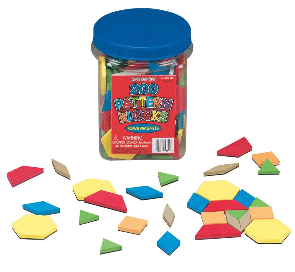 Lauri Foam Magnets - Pattern Blocks by PlayMonster