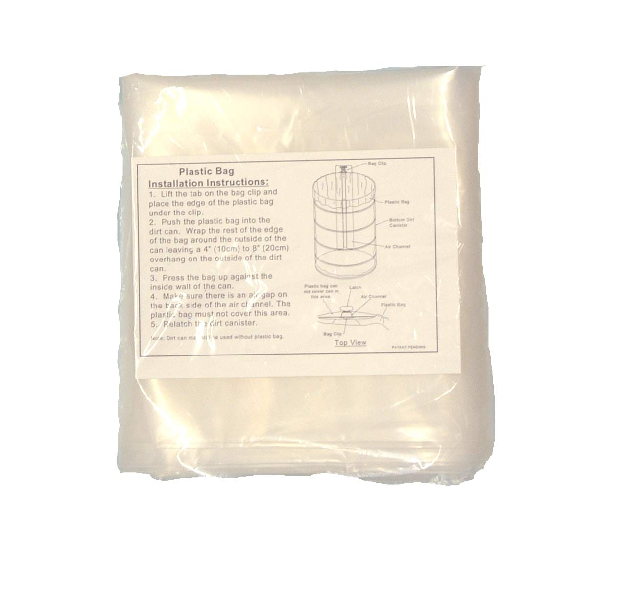 VacuMaid PB14MK Replacement Can Liners Central Vacuum (Qty. 8) for 14'' Dirt Can