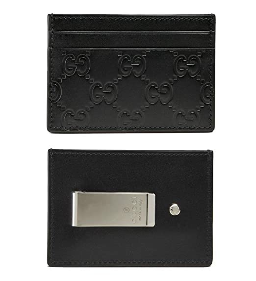 ac4b03e6c5ed Image Unavailable. Image not available for. Colour: Gucci Guccissima  Signature Credit Card Holder Wallet ...