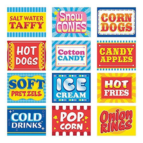 Fun Express Carnival Food Signs Decor - 12 -