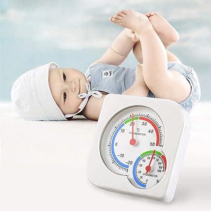 Ballylelly Metro de la temperatura del cuarto de niños del bebé Mejor habitación Mini termómetro húmedo