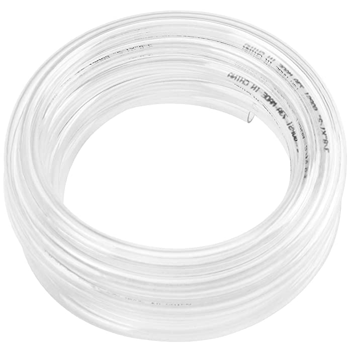 "50ft x 5/8"" ID Clear Vinyl Tubing, Flexible Hybrid PVC Tubing Hose, Lightweight Plastic Tube UV Chemical Resistant Vinyl Hose, BPA Free and Non Toxic"