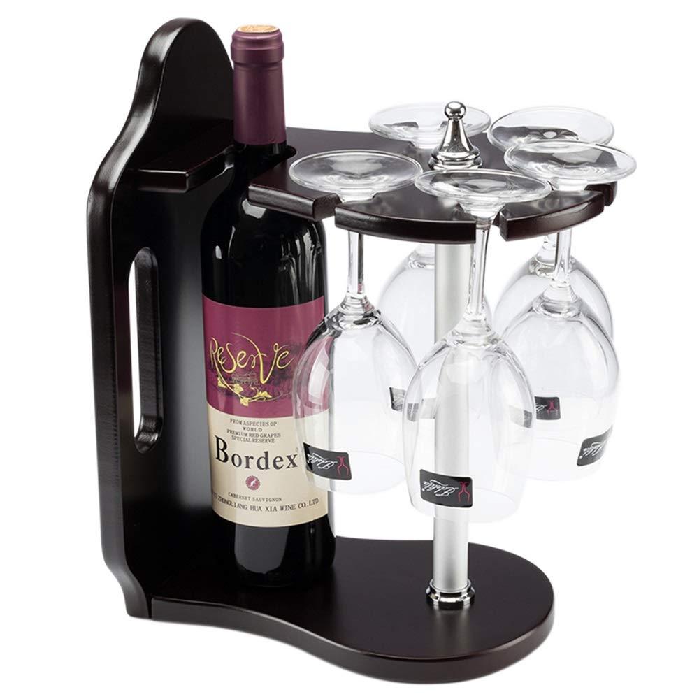 Colore : Nero LNLW Portabottiglie da vino autoportante in legno for uso domestico Armadietto da appoggio Portabottiglie Rack Singola bottiglia