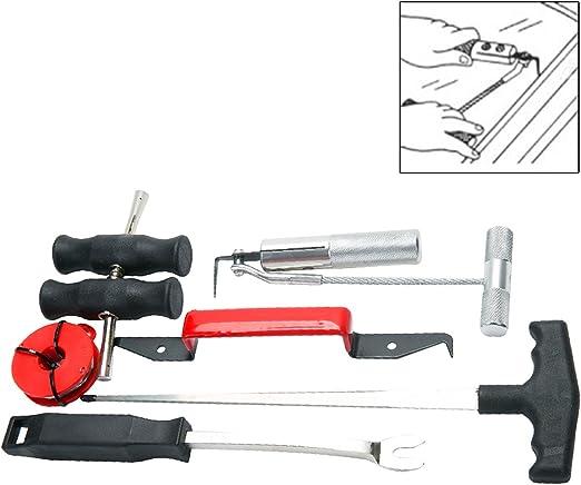 Freetec 7tlg Einbau Ausbau Reparatur Kfz Windschutzscheibe Set Unerlässliches Werkzeug Für Auto Auto