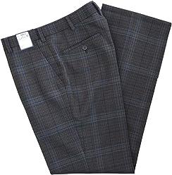KURI-ORI[クリオリ]WKRB415SW0 W73~82 紺グレーチェック ノータック スリーシーズンスラックスSeifuku pants
