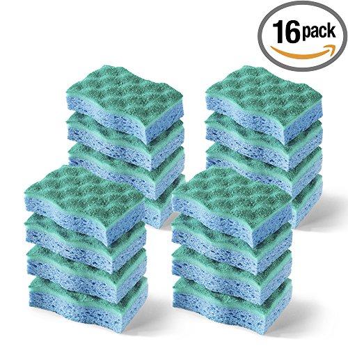 Vileda Multi-Use Scrunge Scrub Sponge, Pack of 16