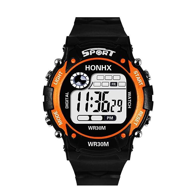 Rcool Relojes suizos relojes de lujo Relojes de pulsera Relojes para mujer Relojes para hombre Relojes deportivos,Digital LED de cuarzo analógico fecha de ...