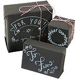 Talking Tables Wrapping Room lavagnetta kit di carta regalo per le vacanze o compleanno, nero