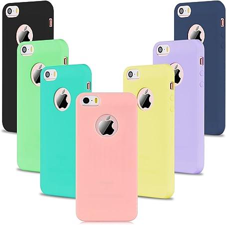 7 x Etui iPhone SE, Etui iPhone 5S, SpiritSun Etui Coque TPU Slim ...