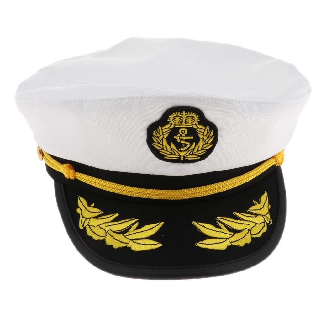 IPOTCH Sombrero de Capitán de Yate Gorro de Algodón Ajustable ...