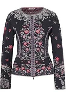 75c871d4110 IVKO Geometric Pattern Jacket, Black at Amazon Women's Clothing store: