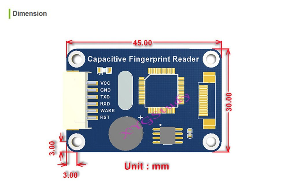 NEW Capacitive Fingerprint Reader onboard processor STM32F105 commercial fingerprinting algorithm semiconductor sensor @XYGStudy by XYG-Module (Image #6)